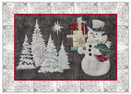 Joyeux Noel Snowman Laser Cut Fabric