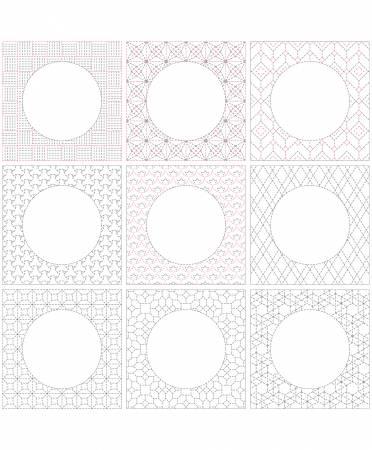 Sue Daley Sashiko Linen Panel 36in x 43-1/2in