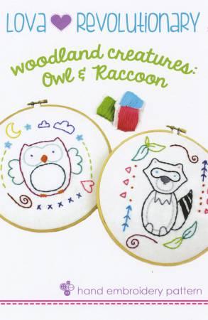 Owl & Raccoon Embroidery
