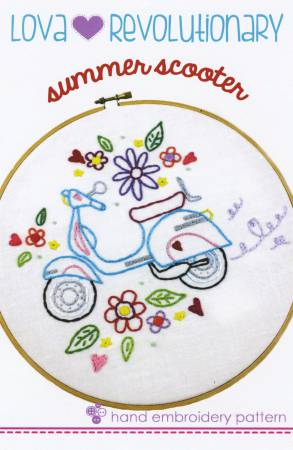 Summer Scooter Embroidery