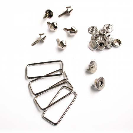 Hardware Kit Union Street Satchel Silver 14pc