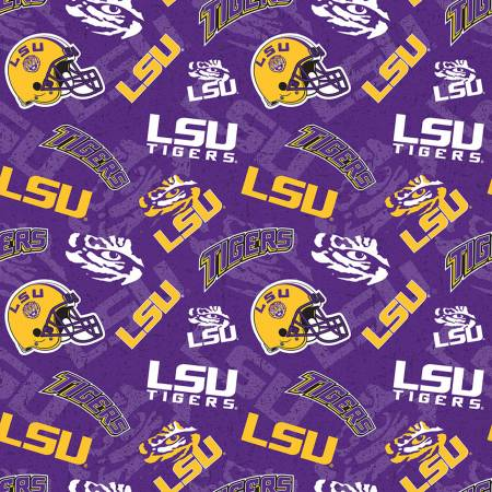 NCAA-Louisiana State Tigers Tone on Tone Cotton