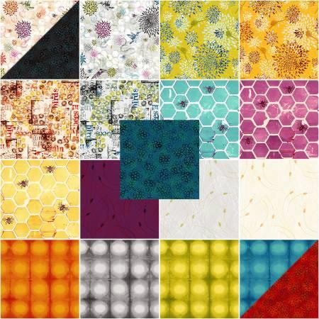 Pollinator Fat Quarter Bundle - Full Collection / 19 pieces- by Leslie Tucker Jenison for RJR Fabrics