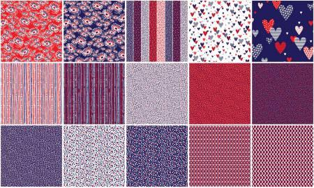 5in Squares Love American Style 42pcs/bundle