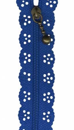 8in Lace Zipper Aqua