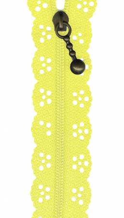 8in Lace Zipper Lemon