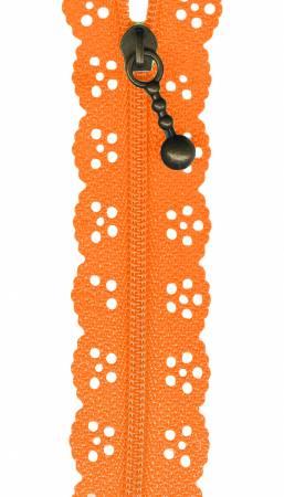8in Lace Zipper Orange