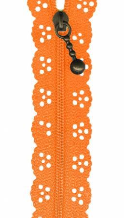 12in Lace Zipper Orange