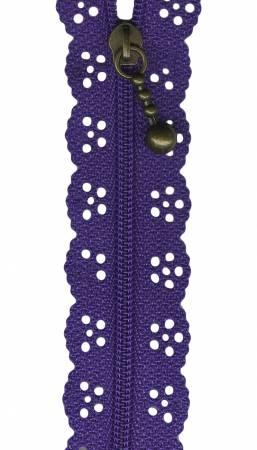 12in Lace Zipper Purple