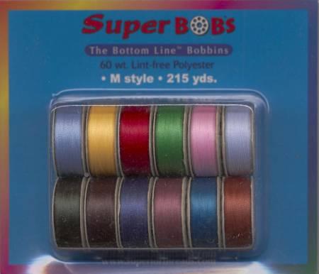 Prewound Bobbins BottomLine Thread M Style Jewel And Pastel