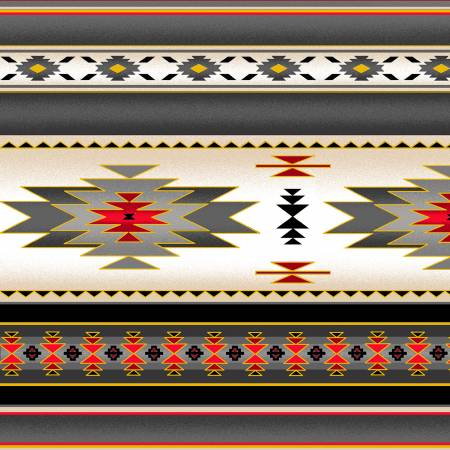Tucson Blanket Stripe grey w/Metallic