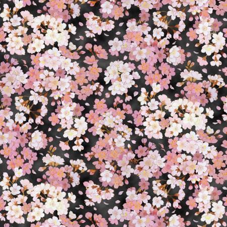 Geiko Asian Packed Floral w/Metallic