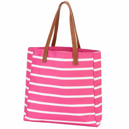 Stripe Tote - Hot Pink