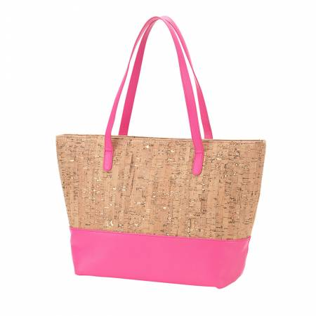 Hot Pink and Cork Tote