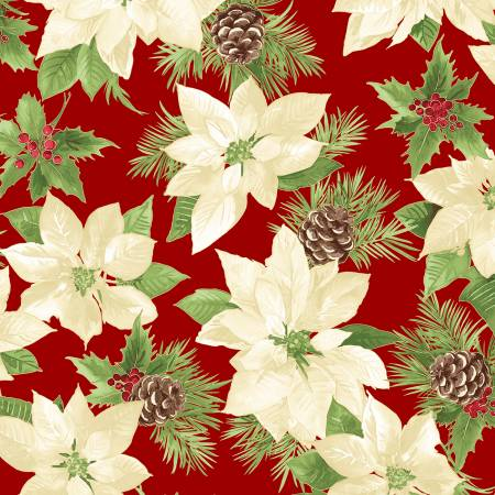 FAB Red Poinsettia w/Metallic