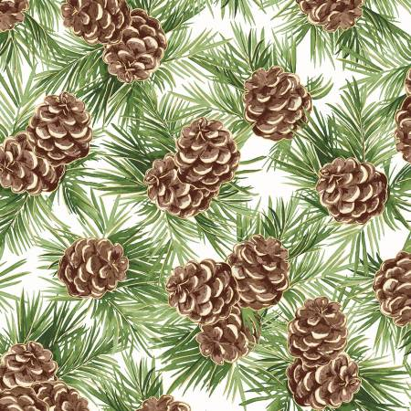 FAB Soft White Pinecones w/Metallic