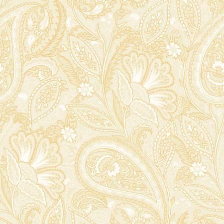 FAB Cream Elegant Paisley w/Metallic