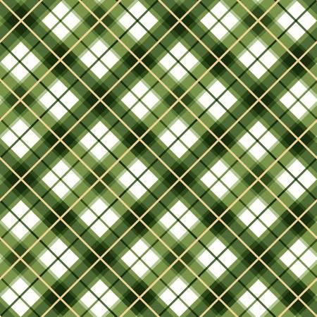 FAB Green Diagonal Plaid w/Metallic