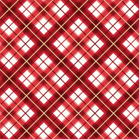 Maywood - Glad Tidings-Red Diagonal Plaid w/Metallic - M9824M-R