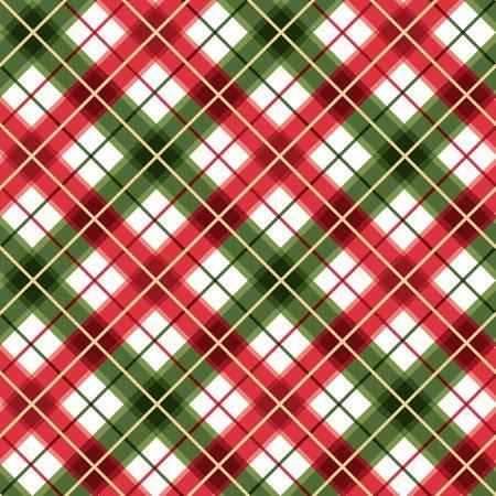 FAB Red/Green Diagonal Plaid w/Metallic