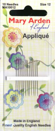 Mary Arden Applique Needles Size 12 10ct