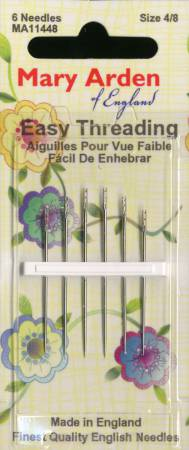 Mary Arden Easy Threading Needles - Assorted Sizes 4/8 - 6ct
