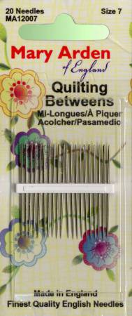 Mary Arden Between / Quilting Needles Size 7 20ct