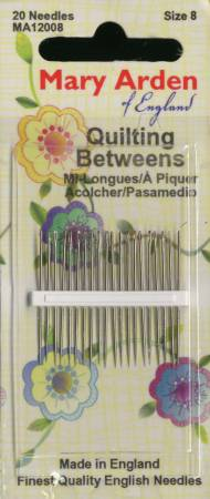 Mary Arden Between / Quilting Needles Size 8 20ct