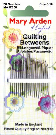 Mary Arden Between / Quilting Needles Assorted Sizes 5/10 20ct