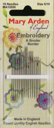 Colonial Needle 6 Count Mary Arden Self//Easy Threading Assorted Needles Size 4//8