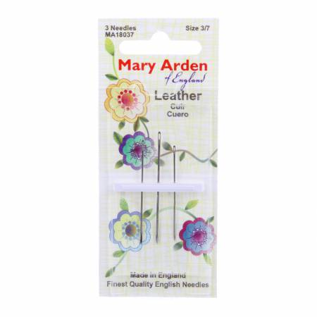 Needle Leather Mary Arden Asst Sz S3-7 3ct