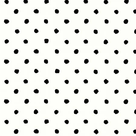 Magnolia - White/Black Dots - 4255-WK