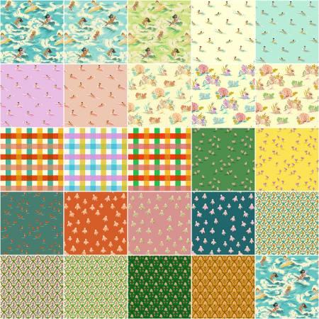 Malibu - Fat Quarter Bundle 24pcs/bundle - By Heather Ross For Windham Fabrics