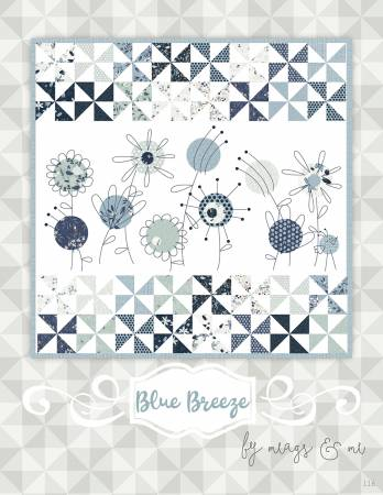 Blue Breeze Pattern with Thread
