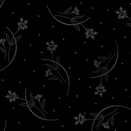 Black on Black Half Moon Flowers