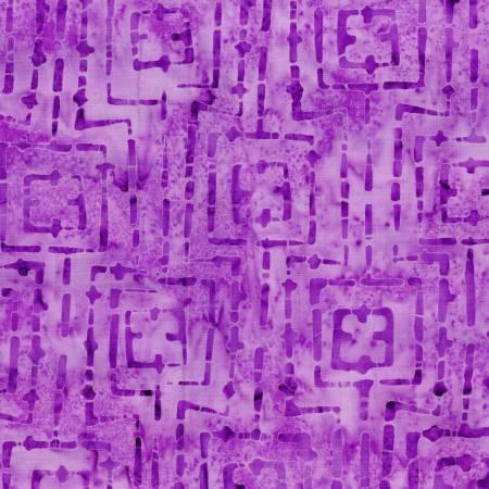 Bejeweled Batik Violet Stitched Squares