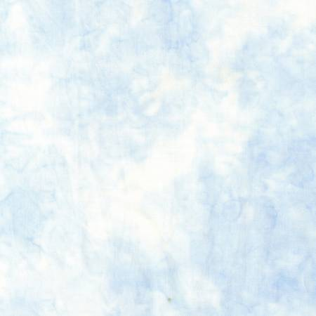 Bejeweled Light Blue Powder Puff Batik