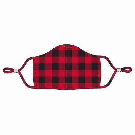 Red Buffalo Check Adjustable Mask