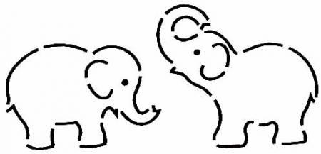 Quilt Stencil Elephants
