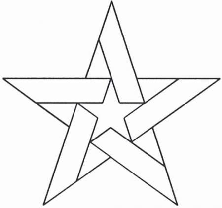 Stencil Five Pointed Star