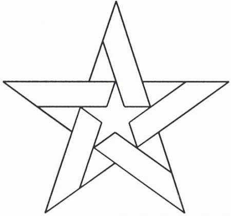 Five Pointed Star Quilt Stencil - 5in