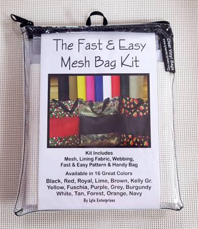 Fast and Easy White Mesh Bag Kit *