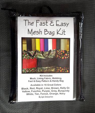 Fast and Easy Black Mesh Bag Kit