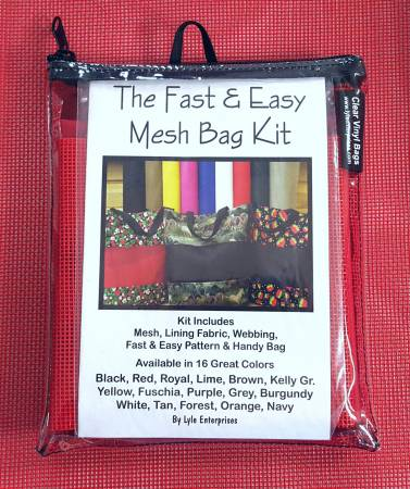 Fast and Easy Red  Mesh Bag Kit *