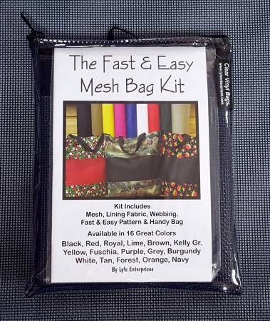 Fast and Easy Mesh Bag Kit Assorted Colors
