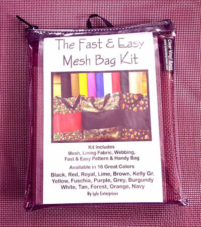 The Fast And Easy Mesh Bag Kit - Burgandy