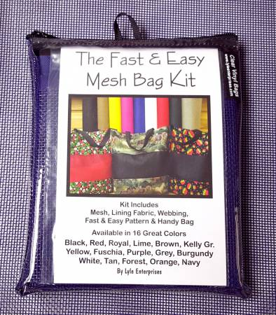 Fast and Easy Purple Mesh Bag Kit MBK-314 `