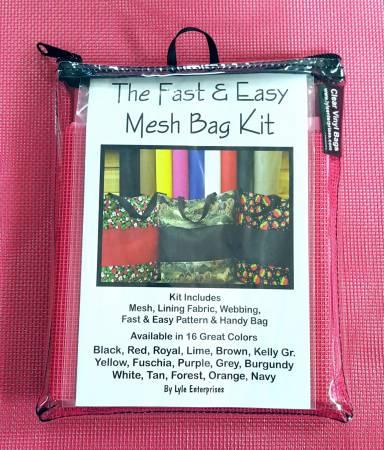 Fast and Easy Fuschia Mesh Bag Kit