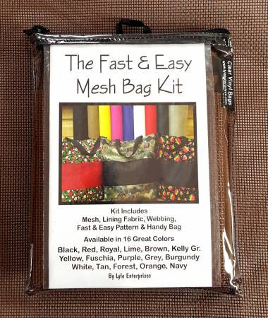 Fast and Easy Brown Mesh Bag Kit