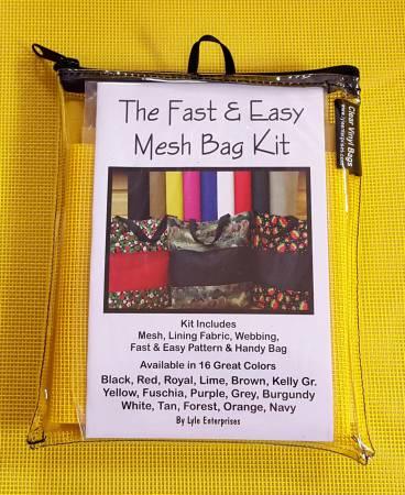 Fast and Easy Yellow Mesh Bag Kits